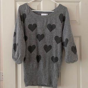 New look Grey heart print sweater